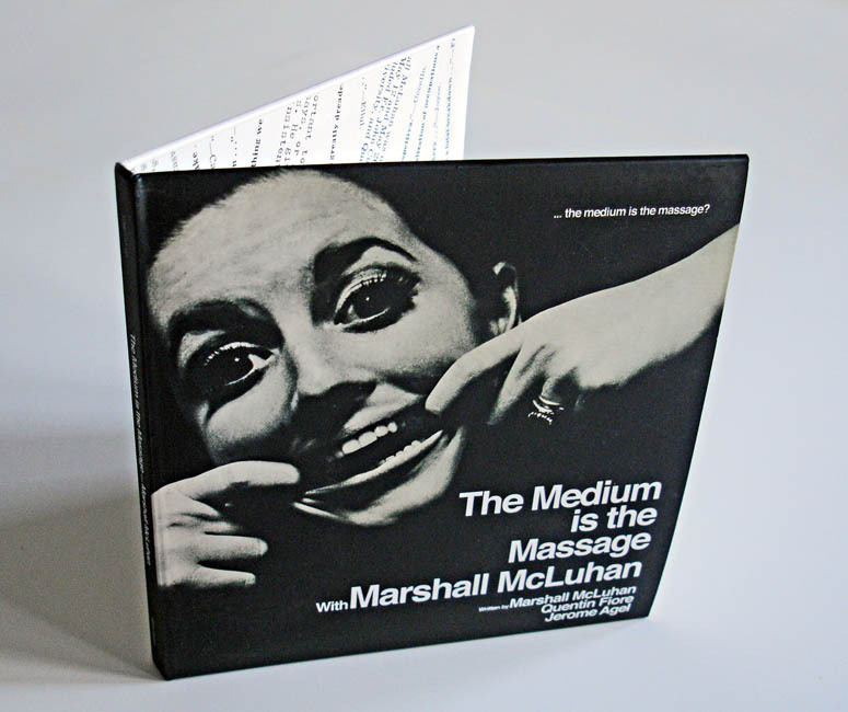 Marshal McLuhan – The Medium Is The Massage CD Re-Issue (via DJ Food)   Marshall McLuhan's experimental LP will be released next month:  And here it is! After at least 18 months since I supplied a quote to Noah Uman for his reissue of 'The Medium Is The Massage' celebrating 100 years of McLuhan's  record of the book, it finally dropped through the letterbox this  morning. It's gorgeous, full deluxe mini LP style CD sleeve, 40 pg  booklet and all in the style of the original. I'm sharing page space with some pretty esteemed commentators too: Warhol, Woody Allen, Steinski, Don Joyce, Jello Biafra, DJ Spooky… The CD is out on Five Day Weekend (who also have releases from Edan, Mr Chop and the '80 Blocks From Tiffanys' DVD) on December the 12th. Well worth it, a unique record, history,  literature, social commentary, cut and paste and comedy all rolled into  one.  More photos here