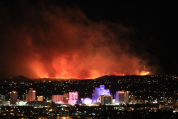 Photo of the Caughlin fire in Reno, Nev. taken by NOAA forecaster Alexander Hoon.