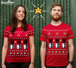 "Deck the halls with Fireballs! Go vote for my ""8 Bit Christmas"" t-shirt! http://www.threadless.com/submission/384300/8Bit_Christmas"