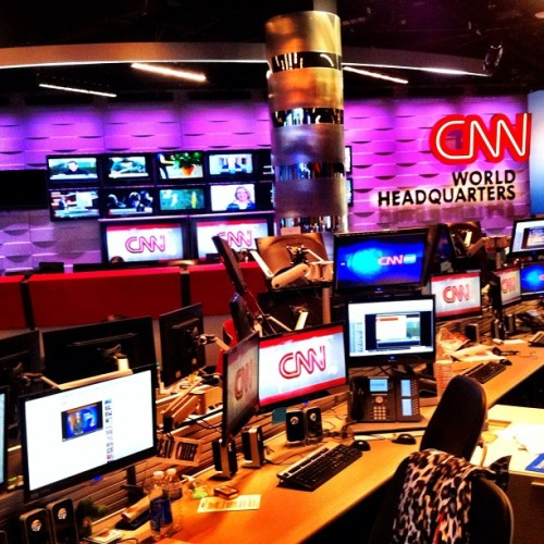 It takes a lot of LCD screens to run a cable news network. (Taken with Instagram at CNN Center)