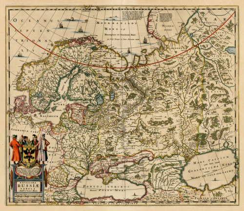 Henricus Hondius, 1670, Russian Empire & Scandinavia