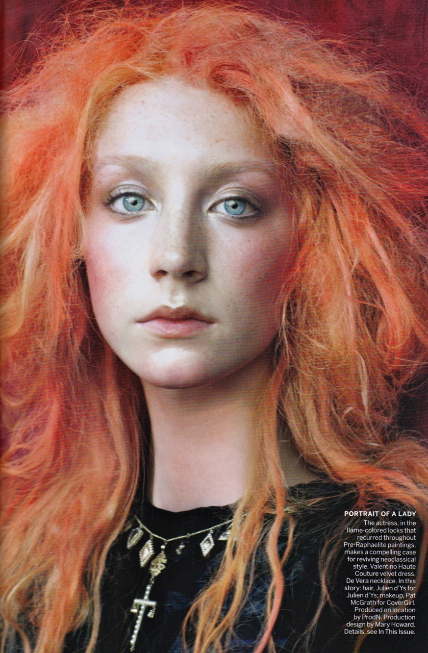 Saoirse Ronan: The Cult of Beauty - Vogue by Steven Meisel, December 2011