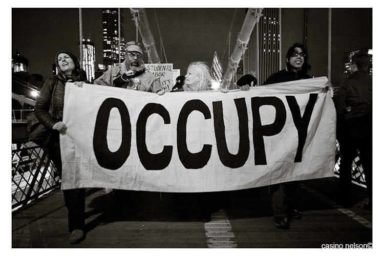 Occupy! the Brooklyn Bridge - 11.17.11