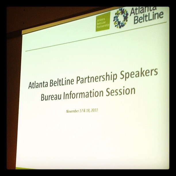 Excited about possibly speaking on behalf of the @atlantabeltine #iloveatlanta (Taken with Instagram at The Hurt Building)