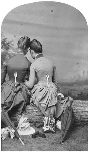 ca. 1860, [portrait of two ladies with spoons] via the Smithsonian Archives, Photographic History Collection