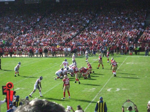 Week 10 New York Giants at Candlestick Park against the San Francisco 49ers