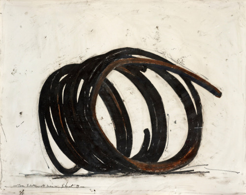 Three Indeterminate Lines mixed media on paper by Bernar Venet, 1999