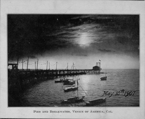Venice Pier at night, 1907