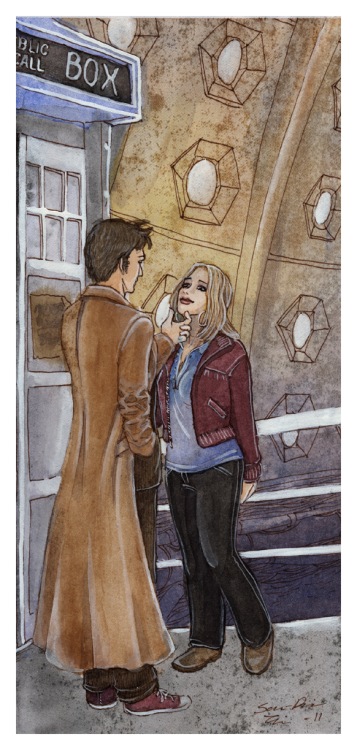 Here is Tenth Doctor with Rose as requested! Sweet moment inside of the tardis. Little sad too. Oh Rose.