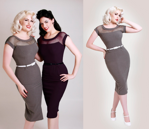 embodystyle:  Bettypageclothing is offering FREE shipping to U.S, and international customers this Friday through Sunday! I couldn't resist, and snatched up this dress in grey (purple and teal available also) Super excited to be adding this to my wardrobe so myself, and Faye can get all gussied up for 'pinup dates'! Witwoo! Click here to take you to the dress