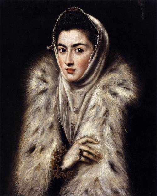 """a lady in a fur wrap"" el greco"