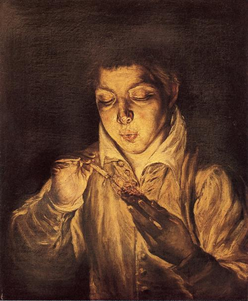 """boy lighting a candle"" el greco"