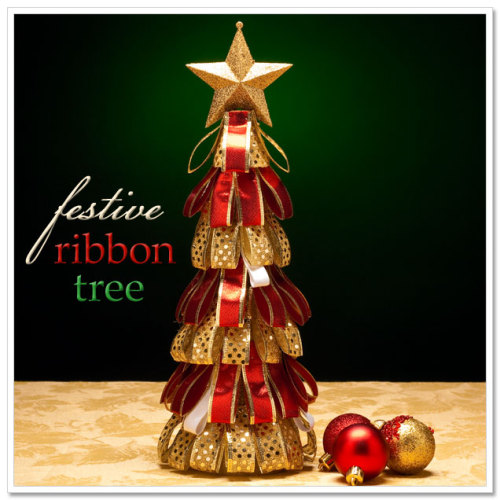 botaniska:  {Make} Festive Ribbon Tree