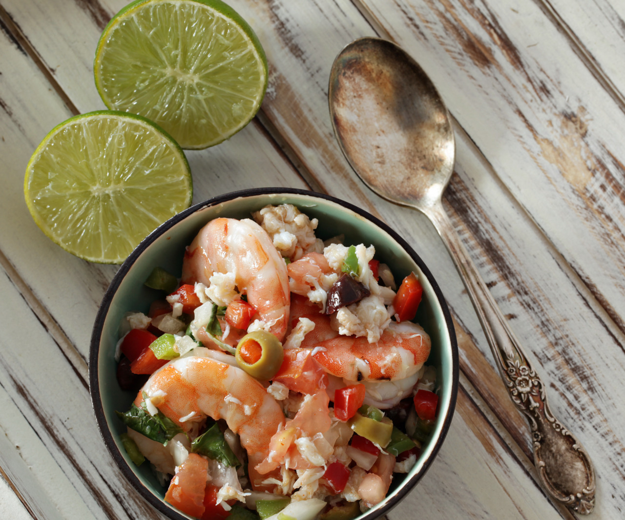 gratitudebliss:  Shrimp & Crab Ceviche Recipe:http://www.food.com/recipe/mexican-ceviche-8899