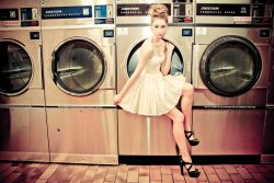 Laundromat. Photographer: Charry Photography  Stylist/Hair: Emma Suarez Model: Paris Riddle @ Giant Management