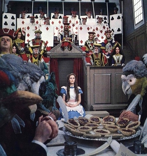oldhollywood:  Fiona Fullerton in Alice's Adventures in Wonderland (1972, dir. William Sterling) (Sight & Sound)