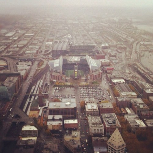 SoDo don't know. View from the top. #seattle in #winter (Taken with Instagram at Columbia Center Observation Deck)