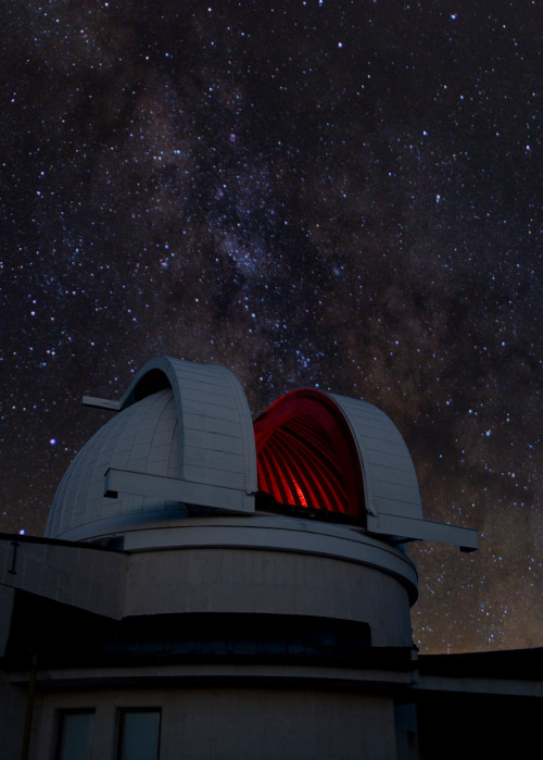 Schmidt Telescope Dome and the Milky Way By Emil Ivanov