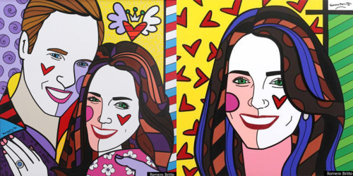 The Duke and the Duchess by Romero Britto.