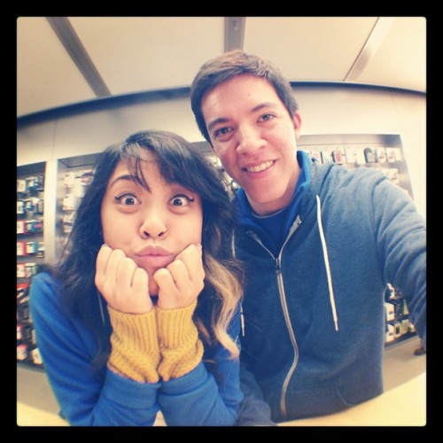 Trying out the olloclip with @jemmaymba ! #awesome  (Taken with Instagram at Apple Store)