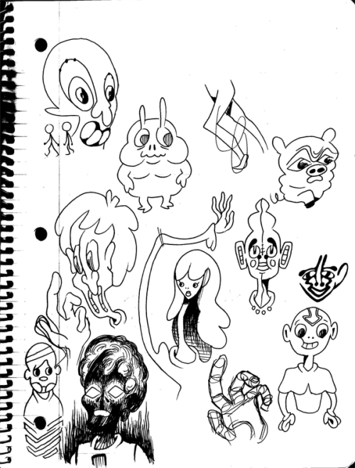 Notebook page featuring Aang, and Blurry Piggy.