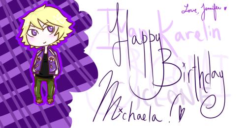 Jen: Happy Birthday Mickie!