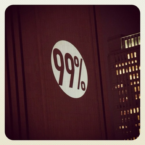 The 99% 'Bat-Signal' (Taken with instagram)