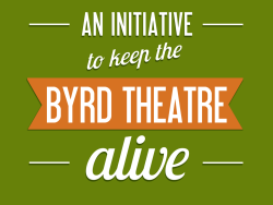 We have 18 days to reach our Kickstarter goal of $2,500 to Help Keep The Byrd Theatre Alive. Did you guys go to the RVA Zombie Film Festival? Yes? Great! No? Great! You can donate $2 (the cost of a Byrd Theatre Ticket) Other than being a cool idea to bring different communities in Richmond together, the Zombie Film Festival was an opportunity to educate movie-goers of the $2 Million debt the Byrd Theatre Foundation is currently buried beneath to keep the theater open and tickets at two bucks. So if you have the time, kick $2 to help us chip away at that debt and get started on these renovation projects to keep the Byrd open and able to be enjoyed! [Kickstarter Page]