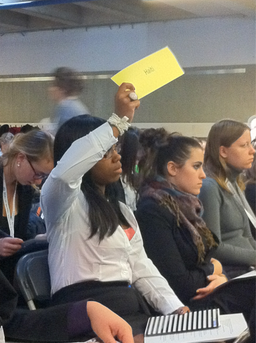 The delegation of Haiti requests time to debate the resolution in the Human Rights Committee.
