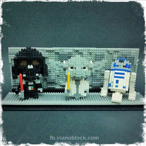 nanoblock Star Wars set with Darth Vader, Yoda and R2D2 … Vote for this design here: http://tiny.cc/votestarwars