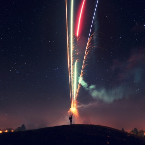 Long exposure of fireworks by Gurbir Grewal