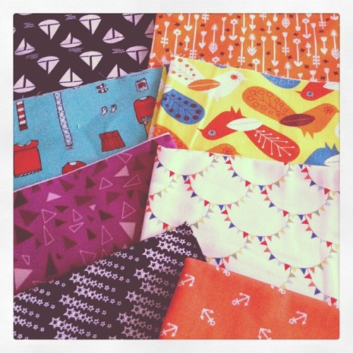 new japanese fabrics, happy sewing weekend! #retrodesign #fabrics #retrofabrics #anchor #kawaii #craft #supplies (Taken with instagram)