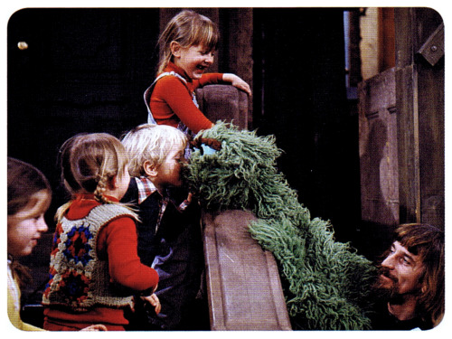 Happy 42nd Birthday Oscar the Grouch behind the scenes on Sesame Street in the seventies :: scanned from Sesame Street: A Celebration :: Black Dog and Leventhal Publishers :: 2009