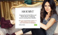 looking to reward yourself for a job well done? Shoes!   SHOEMINT is the new line of shoes designed by Rachel Bilson and her stylist Nicole Chavez and crafted by the amazing Steve Madden.   As a Shoemint customer, you will receive a personalised selection of shoes that match YOUR personal style, updated every month! Make sure you click the link above or click HERE to sign up and get guaranteed access to the first collection and for   your chance to win a years worth of free shoes from Shoemint! Sign up now!