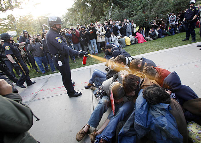 Police hurt these students with pepper spray. Davis, Calif. | Nov. 18, 2011
