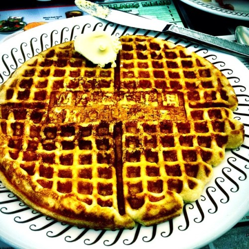 Breakfasting Southern-style before my trip home. (Taken with Instagram at Waffle House)