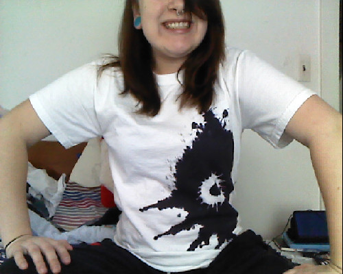 frigidghosts:  Yay! Finally wearing my Majora's Mask shirt.  XD Majora's Mask Ink Blot T Shirt