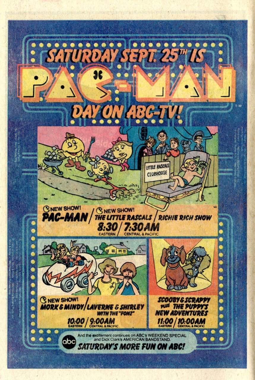 PAC-MAN DAY ON ABC-TV! (via Retro-Space)  Print advert from 1982. Has anyone seen the cartoon? I imagine it would be pretty terrible … (?)