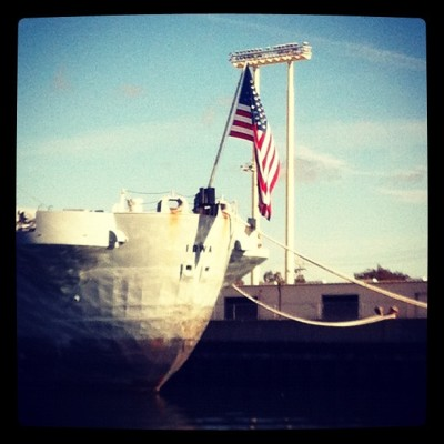 USS Iowa - being restored in Port of Richmond (Taken with instagram)