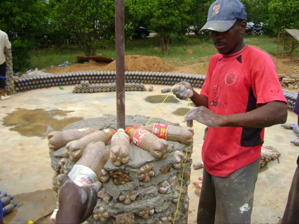 newsflick:   PLASTIC BOTTLES: 20 TIMES STRONGER THAN BRICKS  Life in Africa has many challenges: from disease to poverty and war. The continent also has a reputation for extreme difficulties that are fixable, but a lack of resources often prevents the problems from being solved.This is where resourcefulness comes into play: if you don't have what you need make do with what you already have. A surplus of empty plastic bottles is something that not only affects Africa, but the entire planet. (Read More)