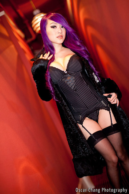 vampybitme:  Pinstriped setPhotography By: Oscar Chang