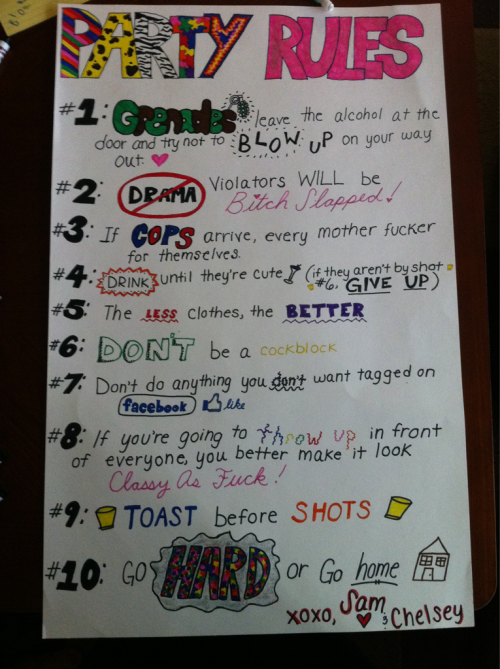 Best party rules Yet!