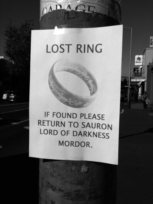 lost ring. lol.