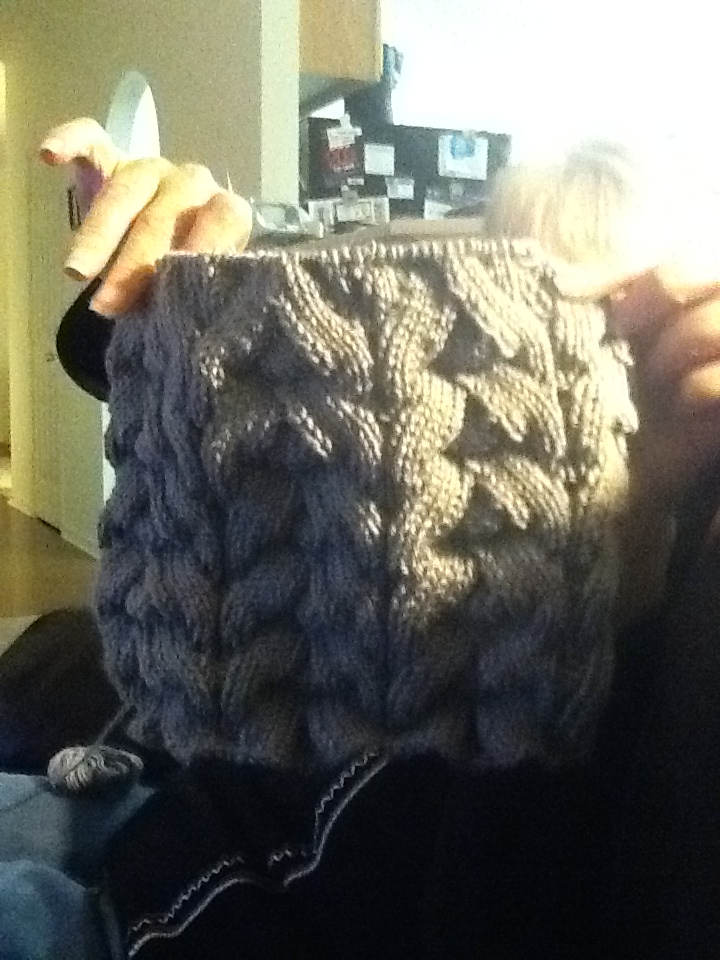 knitwit55: This is going to be gorgeous once done!  The Delux Lace Cowl Pattern by Sweaterbabe