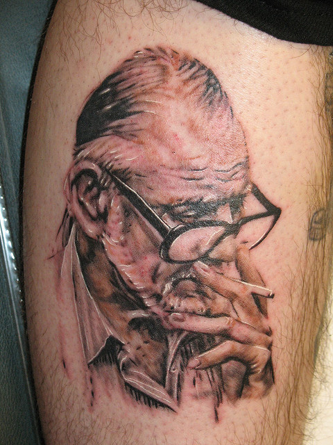 Awesome George Romero Tattoo by Mez Love