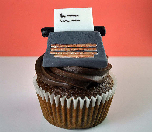 Happy National Cupcake Day! 3amcravings:  How to Make a Typewriter Cupcake Topper (by Aikko Aragon)