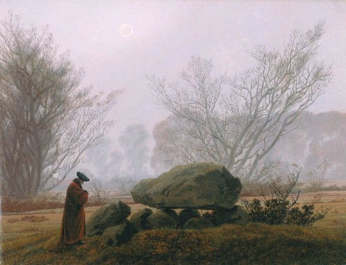 'A Walk at Dusk' by Caspar David Friedrich