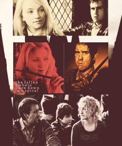 "asimplemuggle:  Top favorite HP pairings (in no particular order)➘ Luna Lovegood/Neville Longbottom  ""Ginny! Neville! Are you alright?""Never better! I feel like I can spit fire! You haven't seen Luna, have you?""""Luna?""""I'm mad for her! I think it's about time I told her, since we'll probably be both be dead by dawn!"""