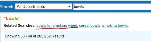 So I was looking for bowls that you can eat out of on Amazon when… oh.