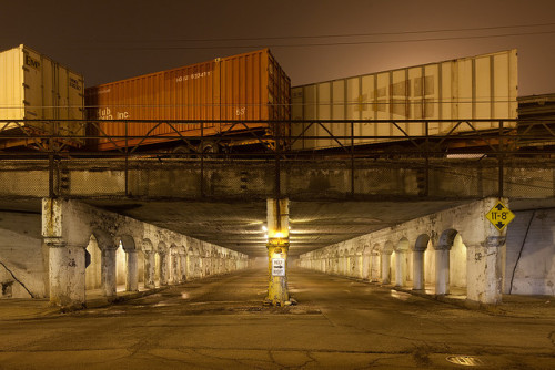 Shipping Containers, Underpass by metroblossom on Flickr.
